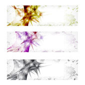 Tres vectores abstracto banner — Vector de stock