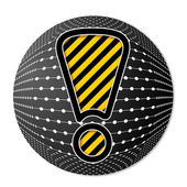 Ünlem işareti simgesi — Stok Vektör