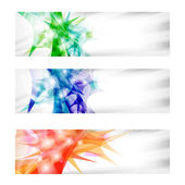 Three vector abstract banner — Stock Vector