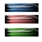 Three abstract banner — Stock Vector