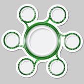 Green circular frames for text — Stock Vector