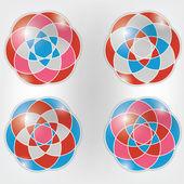 Ensemble d'ornements colorés vector — Vecteur