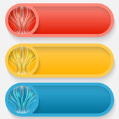 Set abstract buttons — Stock Vector