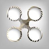 Kreisförmige vektorrahmen — Stockvektor