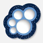 Blue circular frames and dots — Stock Vector