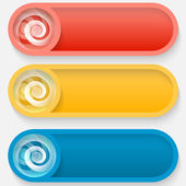 Set colored vector abstract button — Stock Vector