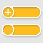 Vector abstract buttons with plus — Stock Vector