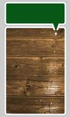 木材图案与文本框架 — 图库矢量图片