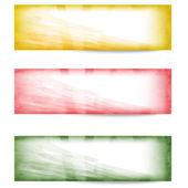 Set vector abstract banner — Stock Vector