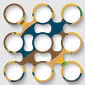 Vector abstract circular object — Stock Vector