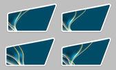 Set blue irregular text frames — Stock Vector