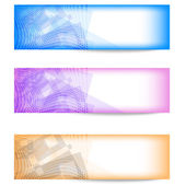 Set of three colorful abstract banner — Stock Vector