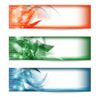 Set of three colored banners — Stock Vector