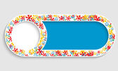 Text frame with floral pattern — Stock Vector