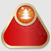 Czerwona ramka z motywem boże narodzenie — Wektor stockowy