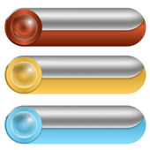 Set of three vector buttons — Stock Vector