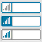 Set of three boxes for any text with graphs — Stock Vector