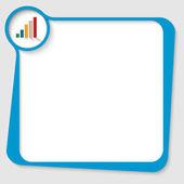 Blå text låda med grafen — Stockvektor