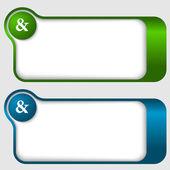 Set van twee abstracte tekstframes met ampersand — Stockvector