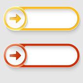 Dos vectores abstractos botones con flechas — Vector de stock