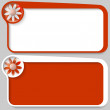 Stock Vector: Two red vector text box and flower