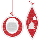 Two Christmas ornaments with patterns — Stock Vector