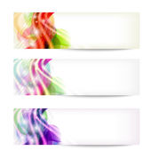 Set of three abstract banners — Stock Vector