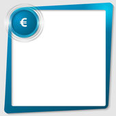 Blue text frame and transparent circles with euro sign — Stock Vector