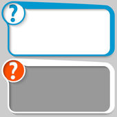 Two vector text box and question mark — Stock Vector