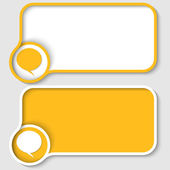 Two yellow text frame and speech bubble — Stock Vector