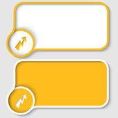 Two yellow text frame and flash — Stock Vector
