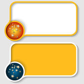 Two yellow text frame and stars — Stock Vector