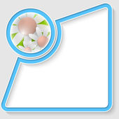 Vektorové abstraktní textový rámeček pro libovolný text s květinami — Stock vektor