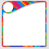 Colored frame for any text with white box — Stock Vector