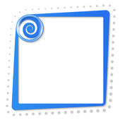 Blue text frame with spiral and gray dots — Vecteur