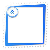 Blue text frame with ampersand and gray dots — Stock Vector