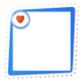 Blue text frame with heart and gray dots — Stockvektor
