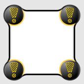 Herhangi bir metin ve ünlem işareti siyah metin kutusu — Stok Vektör