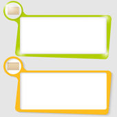 Set of two text boxes for text with the envelope — Stock Vector