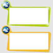 Set of two text boxes for text with the cloud — Stock Vector