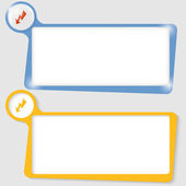 Set of two text boxes for text with the flash — Stock Vector