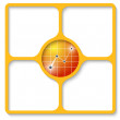 Cтоковый вектор: Yellow box for any text with graph