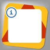 Caixa vermelha e amarela para qualquer texto com sinal de informação — Vetor de Stock