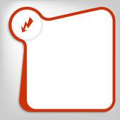Rote vektor-feld zur eingabe von text mit flash mark — Stockvektor