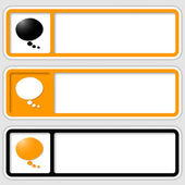 Set of three frames for inserting text and speech bubble — Stock Vector