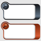 Set of two abstract text frames with magnifier — Stock Vector