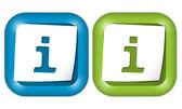 Набор из двух икон с бумаги и информация знак — Cтоковый вектор