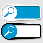 Set of two boxes for any text with magnifier — Stock vektor