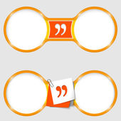 Two circles for text with an quotation mark — Stock Vector