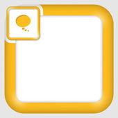 Caixa de texto de vetor para qualquer texto com bolha do discurso — Vetorial Stock